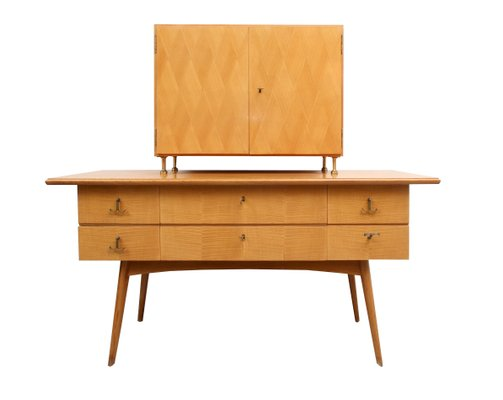 Cherry Wood Sideboard And Bar Cabinet 1950s 2