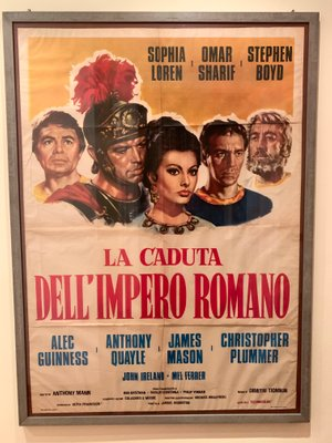 The fall of the roman empire vintage movie poster