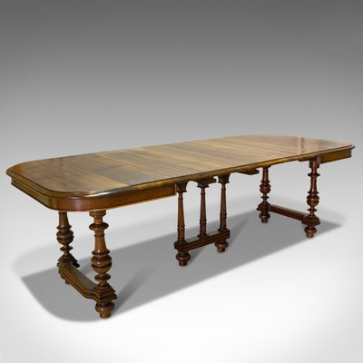 Large Antique Fench Walnut Extending Dining Table 1900s For Sale At Pamono