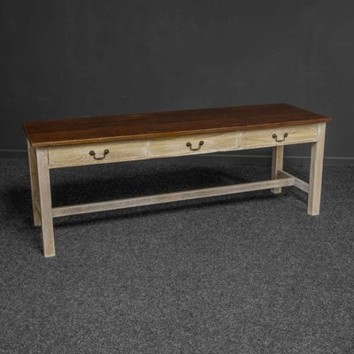 Antique Country Style 3 Drawer Dining Table Bei Pamono Kaufen