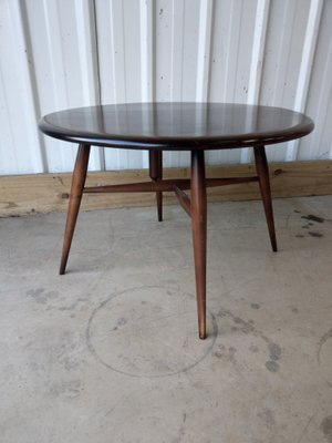 Small Vintage Drop Leaf Round Half Moon Side Coffee Table From Ercol For Sale At Pamono