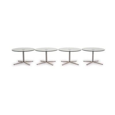 Silver And Glass Coffee X Tables From Walter Knoll Set Of 4 For Sale At Pamono