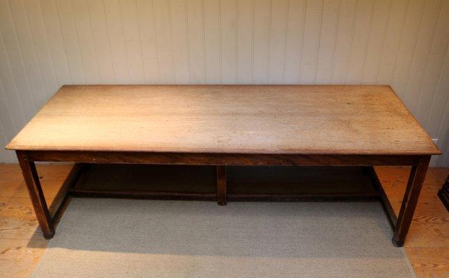 Light Mahogany School Refectory Table, Light Mahogany Furniture