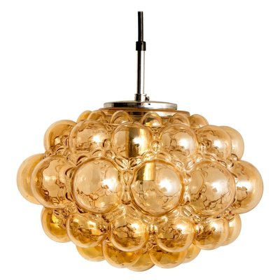 Amber Bubble Glass Pendant Light Fixtures By Helena Tynell 1960 Set Of 6 For Sale At Pamono