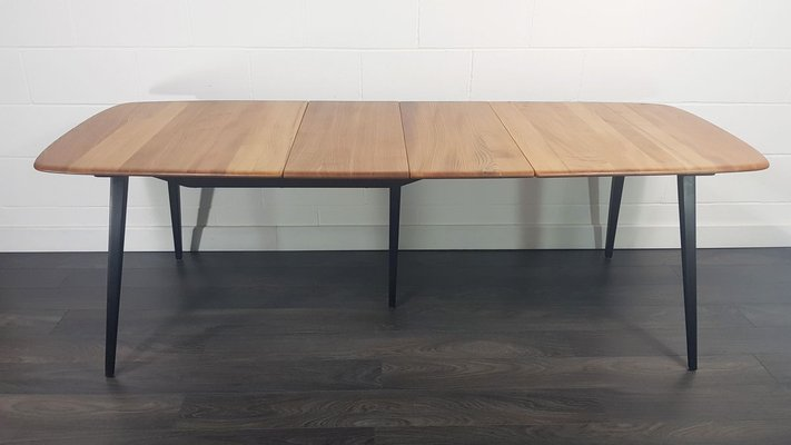 Extendable Dining Table With Black Legs By Lucian Ercolani For Ercol 1960s For Sale At Pamono
