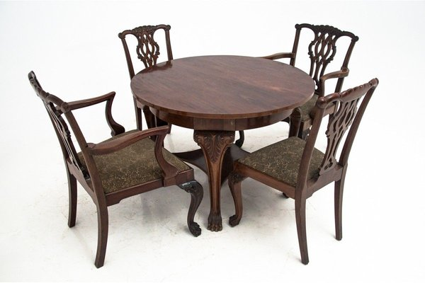 Antique Dining Table Chairs Set, Antique Dining Room Chairs