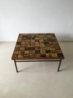 Charmant Vintage Mosaic Coffee Table By Webe, 1960s