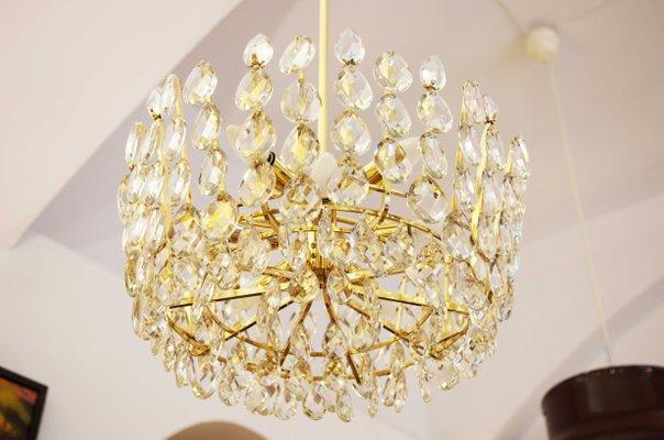 Kronleuchter Gold Kristall ~ Österreichischer kronleuchter aus geschliffenem kristall von