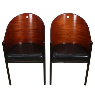 Leather Chairs By Philippe Starck Set, Philippe Starck Furniture