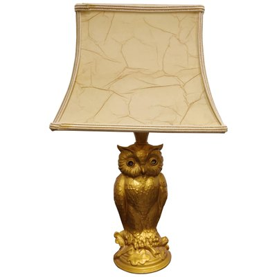 Brass Owl Table Lamp By Loevsky, Owl Table Lamp
