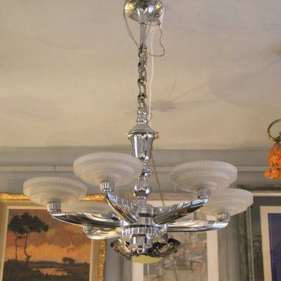 Large French Art Deco Lamp By Henry, Art Deco Lampe