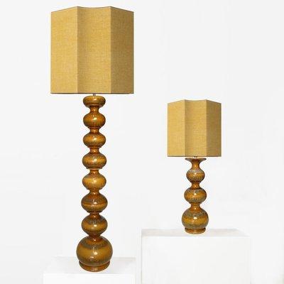 Large Ceramic Lamps With New Silk, Custom Ceramic Table Lamps
