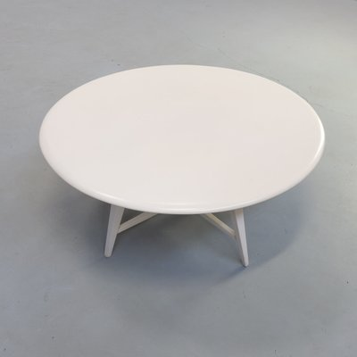 White Round Wooden Coffee Table By Bas, White Round Coffee Tables