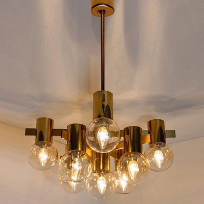 Brass And Glass Light Fixtures In The Style Of Jacobsson 1960s Set Of 2 For Sale At Pamono