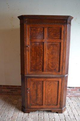 Antique Oak Corner Cabinet For Sale At Pamono
