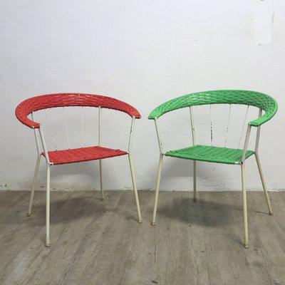 Set Di Sedie Da Giardino.Sedie Da Giardino Vintage Rosse E Verdi Germania Set Di 2 In