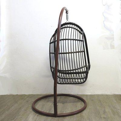 Vintage Rattan Bamboo Hanging Egg Chair 6