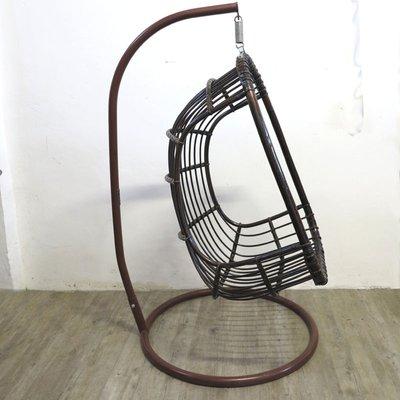 Freischwingender Vintage Egg Chair Aus Rattan U0026 Bambus 2