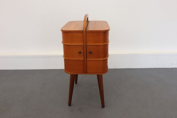 Wooden Sewing Cabinet 1960s For, Vintage Sewing Cabinet