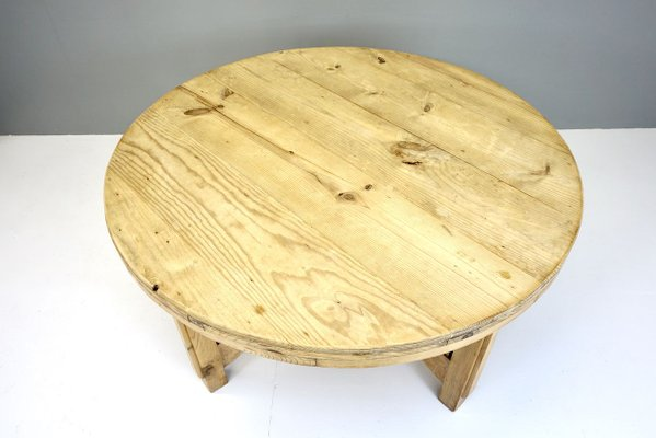 Large Circular Pine Dining Table 1930s, Round Table Tops Canada