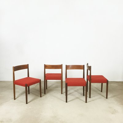Walnut Dining Chairs By Poul Volther For Frem Rojle Set Of 4 1