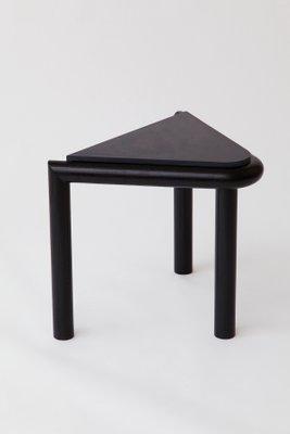Black Troika Stool Or Side Table By Vonnegut / Kraft 1