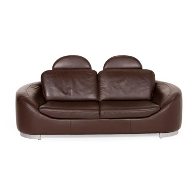 Dark Brown Leather Sofa By Ewald Schillig For Sale At Pamono