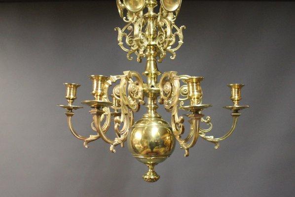 Lampadario Antico Ottone : Lampadario da chiesa antico in ottone metà xix secolo in vendita