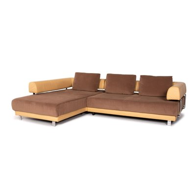 Brand Face Electric Leather Corner Sofa By Ewald Schillig For Sale At Pamono