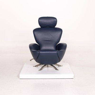 Dodo Cassina Dodo Dark Blue Leather Armchair For Sale At Pamono