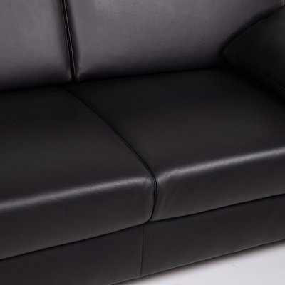 Concept Plus Black Leather Sofa By Ewald Schillig For Sale At Pamono