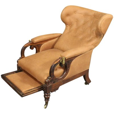 William IV Reclining Wingback Chair From George Minter, 1830s