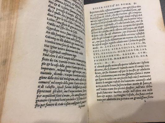Andrea Fulvio Delle Antichita Della Citta Di Roma E Delli Edifici Memorabili Di Quella 1543 For Sale At Pamono