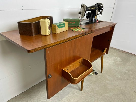 Sewing Cabinet From Singer 1960s For, Vintage Sewing Cabinet