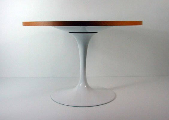 Tulip Base Lazy Susan Coffee Table By Eero Saarinen For Knoll 2