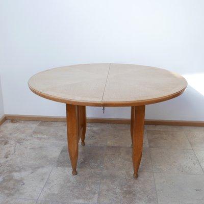 Vintage Round Oak Extendable Dining, Vintage Round Table