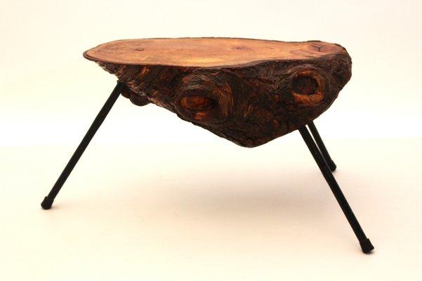 Tavolo creato da un tronco d albero austria anni in vendita