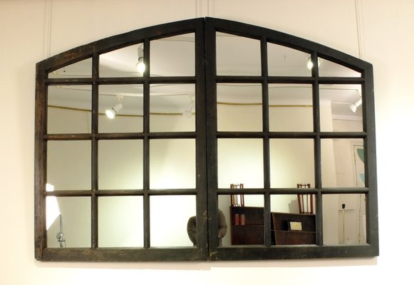 Mirror With Antique French Window Frame For Sale At Pamono