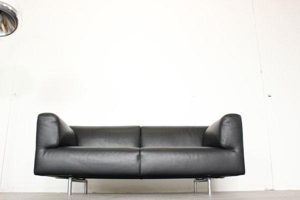 Vintage 250 Met Black Leather Sofa By, Black Leather Sofa