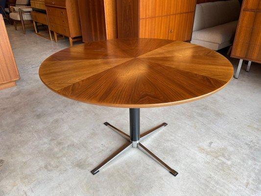 Mid Century Modern Danish Round Dining, Round Mid Century Modern Dining Table