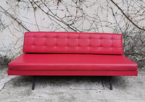 Red Faux Leather Sofa 1970s For, Red Faux Leather Sofa And Loveseat