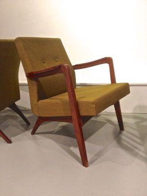 Gentil Belgian Easy Chairs By Jos De Mey For Van Den Berghe Pauvers, 1955, Set