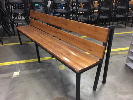 Groovy Industrial Factory Long Wooden Bench Lamtechconsult Wood Chair Design Ideas Lamtechconsultcom