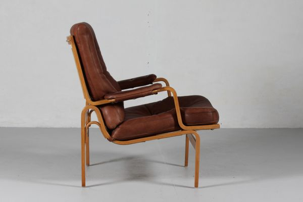 Ingrid Cognac Leather Easy Chair By Bruno Mathsson For Dux 2