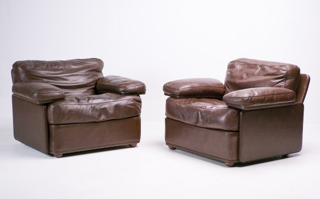 Vintage Leather Lounge Chair by Tito Agnoli for Poltrona Frau