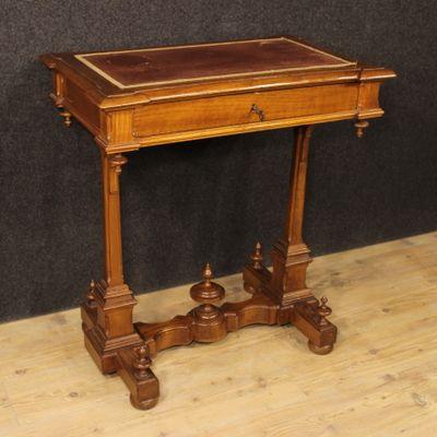 Antique Italian Carved Cherry Desk 1 - Antique Italian Carved Cherry Desk For Sale At Pamono