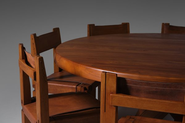 T21e Sfax Dining Table By Pierre Chapo, Extra Large Dining Room Table And Chairs