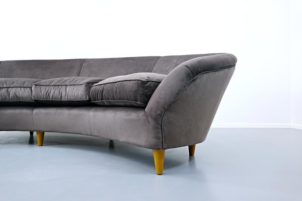 Large Italian Curved Sofa For At, Large Round Sofa Bed