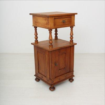 Petite Table De Chevet Antique En Merisier 1890s
