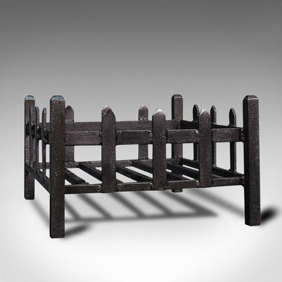 Fireplace Grate In Cast Iron 1900s, Antique Victorian Cast Iron Fireplace Grate